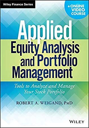 Get Book Applied Equity Analysis and Portfolio Management: Tools to Analyze and Manage Your Stock Po #stockportfolio