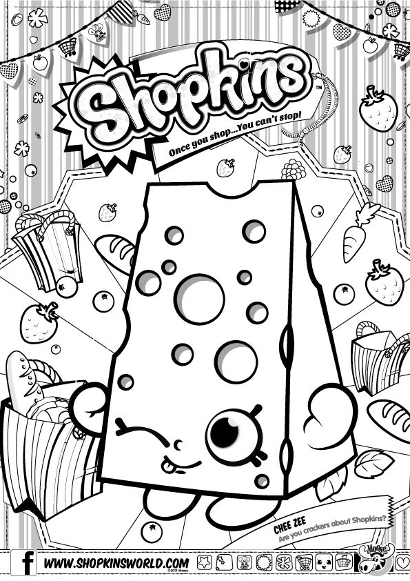 Shopkins Coloring Sheets Fete Pages