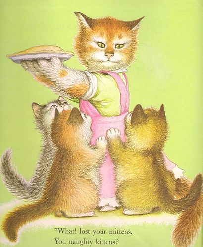 The Three Little Kittens Cat Art Illustration Little Kittens Animal Illustration