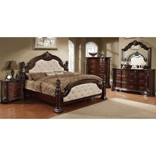 Furniture of America Kassania Luxury 4-piece Leatherette Bedroom Set - Free Shipping Today - Overstock.com - 16347008 - Mobile