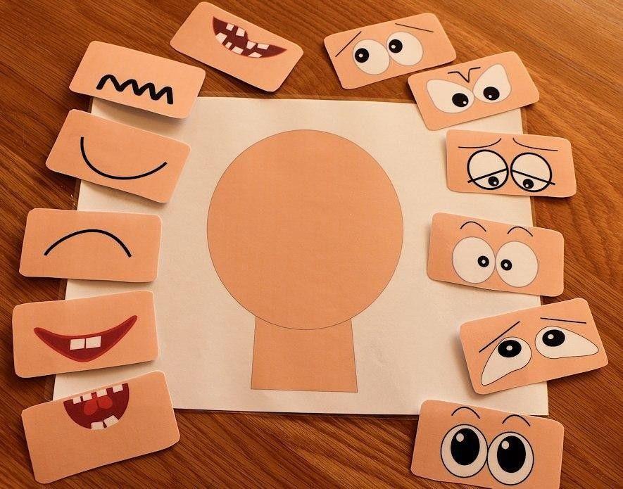 Эмоции в картинках для детей своими руками