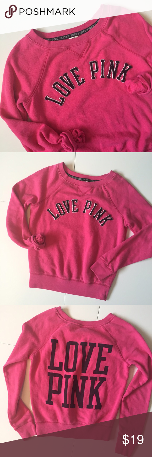 VS PINK Crew Sweatshirt | Crew neck, Vs pink and Pullover