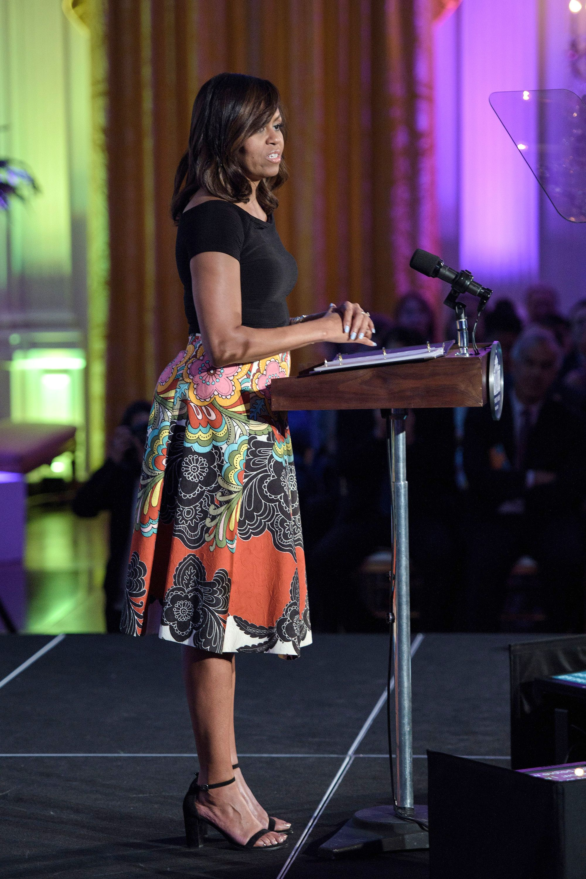 Michelle Obama Looks Like A Work Of Art Next To Her Official
