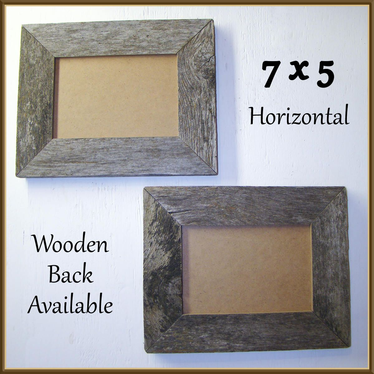 Save on a set of Two 5 x 7 Barnwood Frames. Authentic Old Barn Wood ...