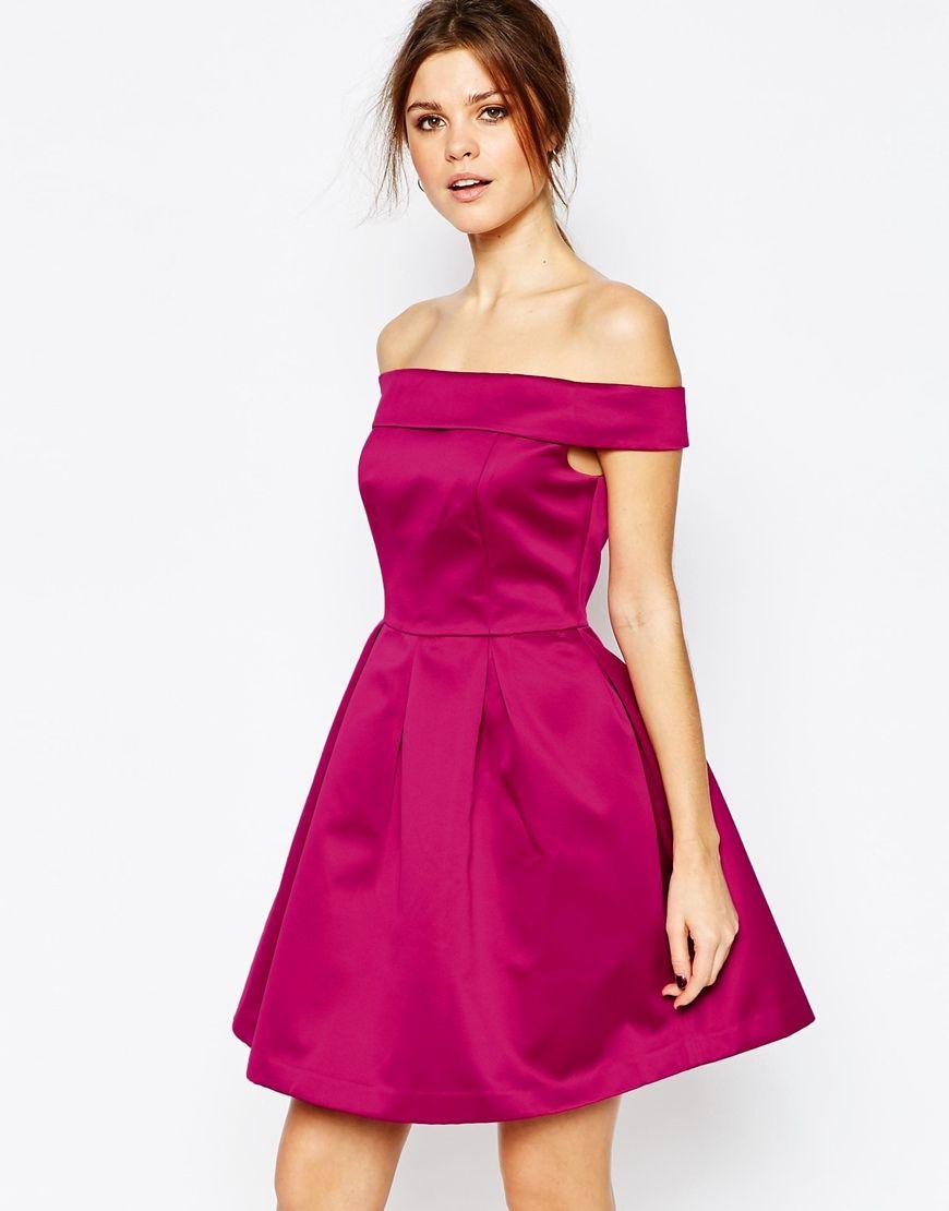 Warehouse Satin Bardot Prom Dress   Style I\'d Kill For   Pinterest ...