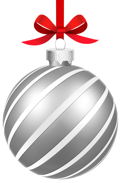 Silver Striped Christmas Ball Png Clipart Image Christmas Ornaments Christmas Balls Silver Christmas Ornaments