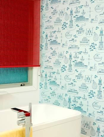 Bathroom Wallpaper 13 Jpg 350 460 Pixels Home Pinterest Geometric Designs And Bold Colors