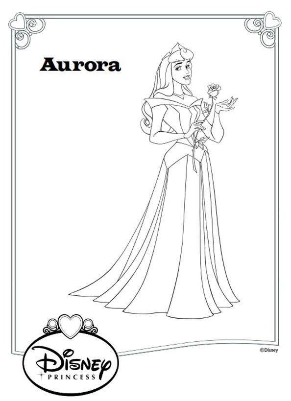 Prinzessin Aurora Ausmalen Ausmalbilder Aurora Disney