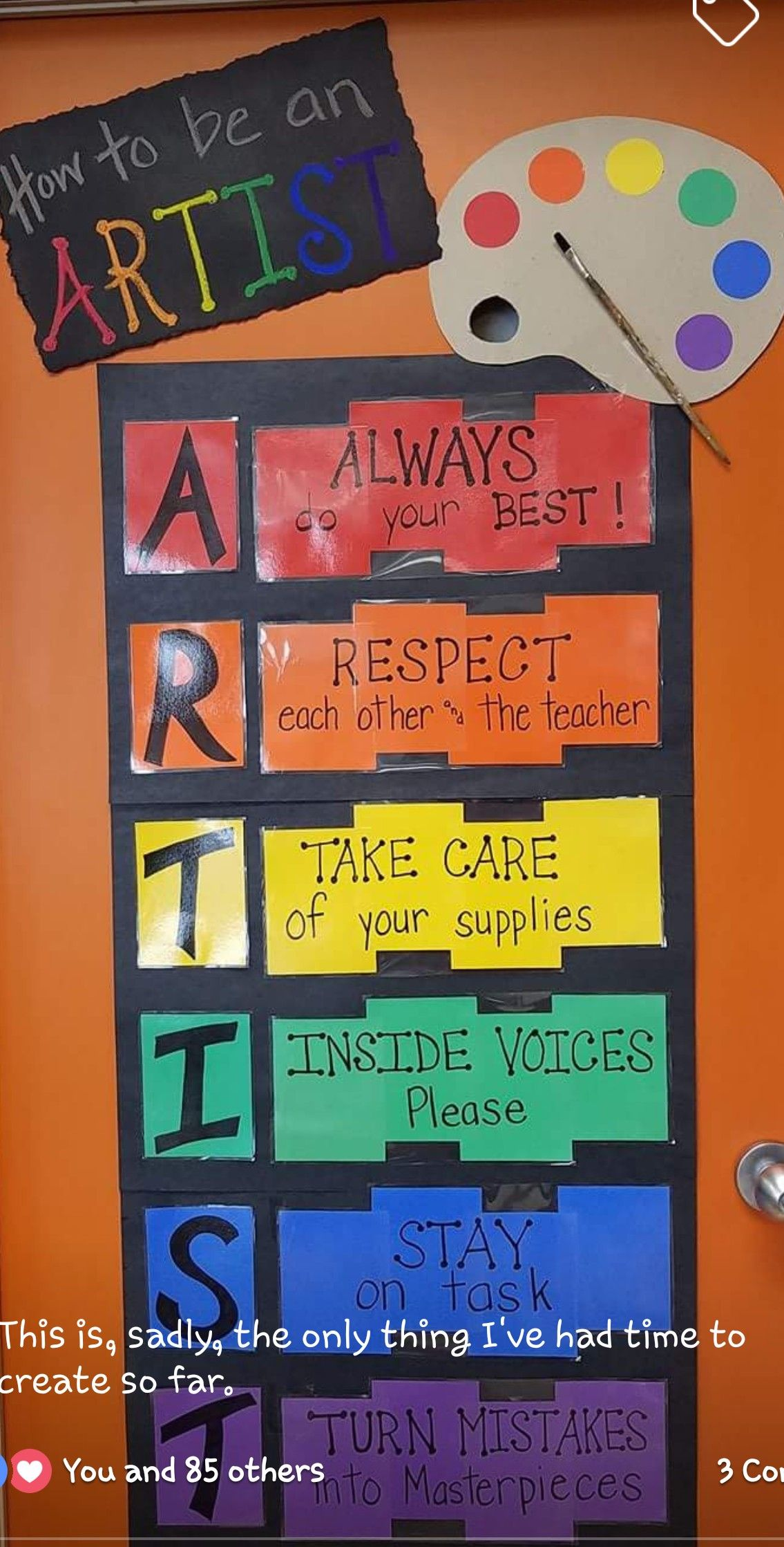 Pin By Beth Sanborn On Art Room Decorations Posters And Bulletin Boards Art Classroom Art Classroom Rules Art Classroom Organization