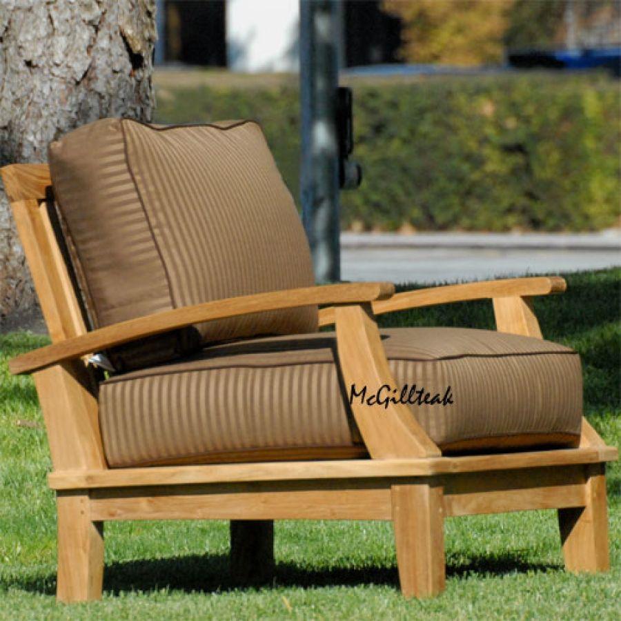 Bali Deep Seating Lounge Chair With Cushions Patio Chair