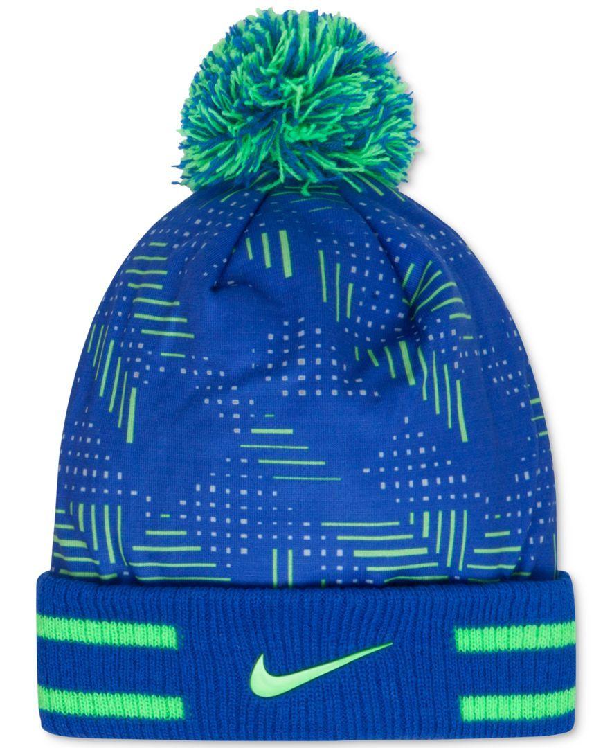 a4bcb218b6e Nike Boys  Pom-Pom Beanie Hat