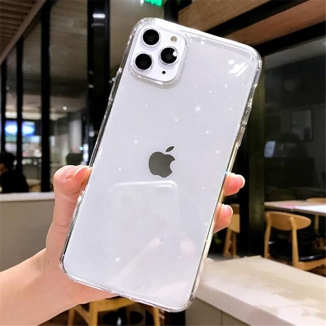 Case Candy Color Transparent Glitter For iPhone 11 For iPhone 7 8 6 6s