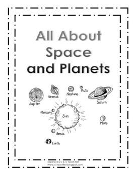Space and Planets. Vocabulary words are omitted from the