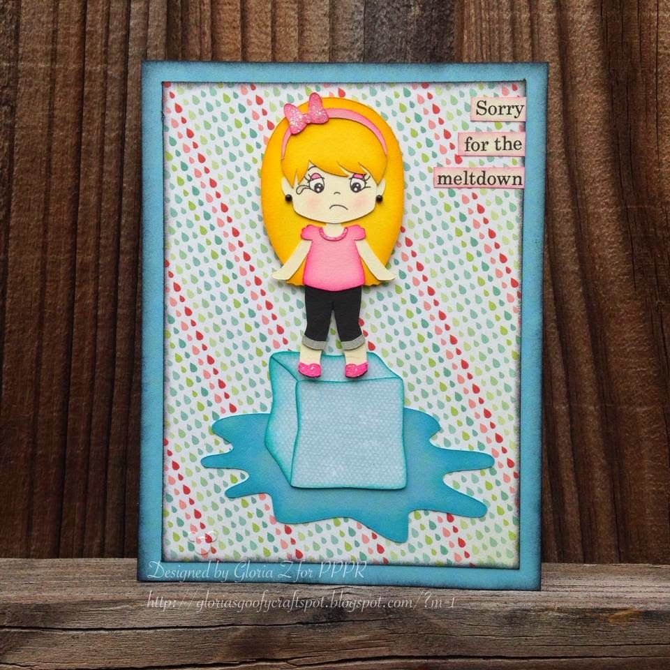 """Gloria's Goofy Craft Spot~ Made using PPPR """"Melting Ice Cutting Files"""", PPPR """"Dress Up Girls 1 Cutting Files"""" and PPPR """"Dress Up Girl Capri Outfit 1 Cutting Files"""""""