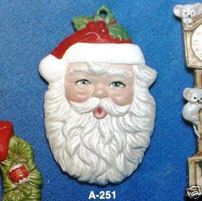 Ceramic Bisque Christmas Ornament Santa Head Alberta 251 U-Paint Ready To  Paint - Ceramic Bisque Christmas Ornament Santa Head Alberta 251 U-Paint
