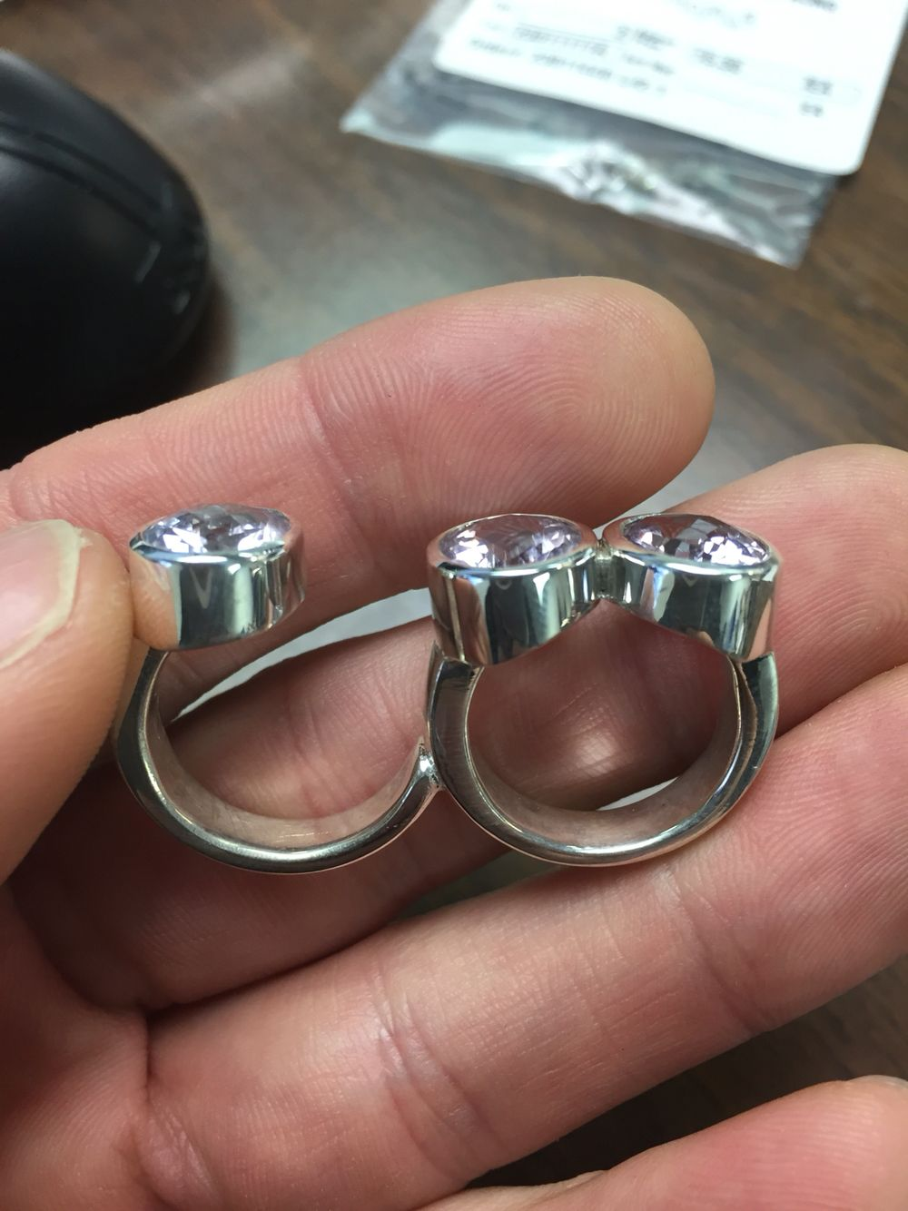 Custom ring waiting for client to pick up Rings for men