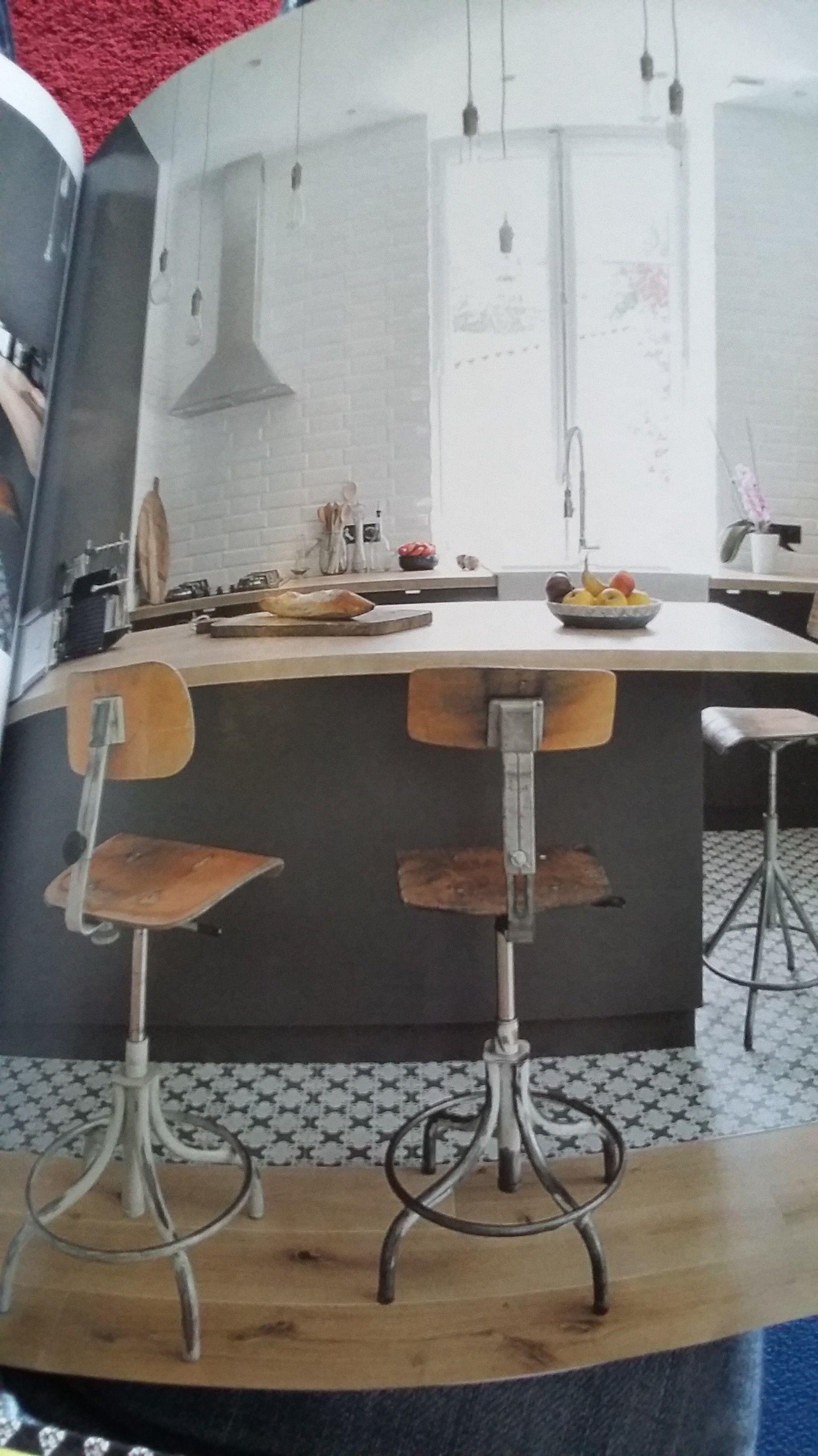 Cuisine Carreaux concernant cuisine carreaux ciment+ parquet / tabouret indus | cuisine | pinterest