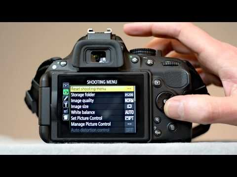 how to set up nikon d7100 for video