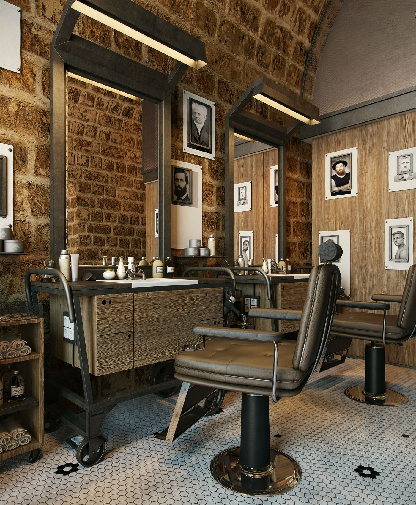 Phil  Joe4  architectural visualisation  Barbershop