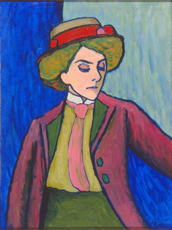 Gabriele Münter / Portrait of a Young Woman [Bildnis einer Jungen Dame] / 1909 / Milwaukee Art Museum