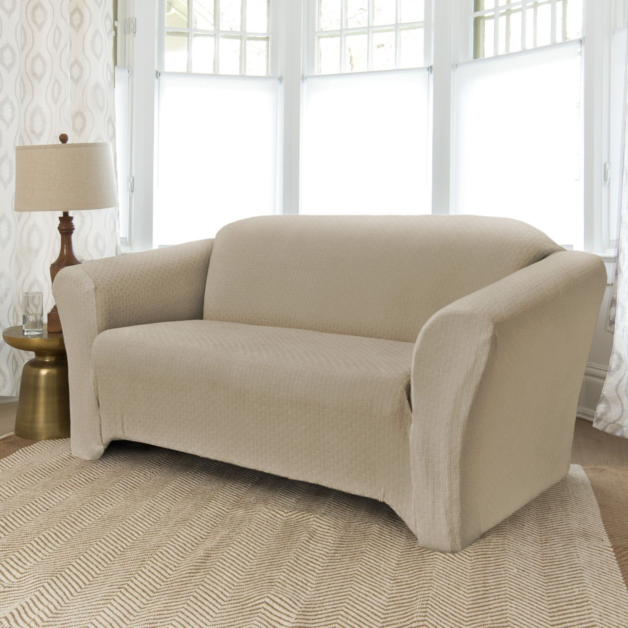 sofa for slipcover cover inspirational seat and furniture white luxe of blue slip floor lovely