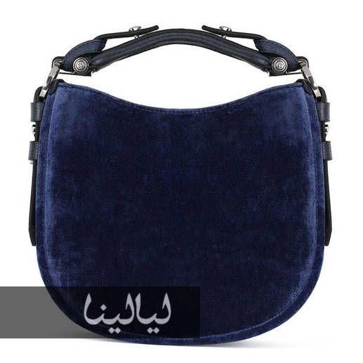 Velvet blue signer bag