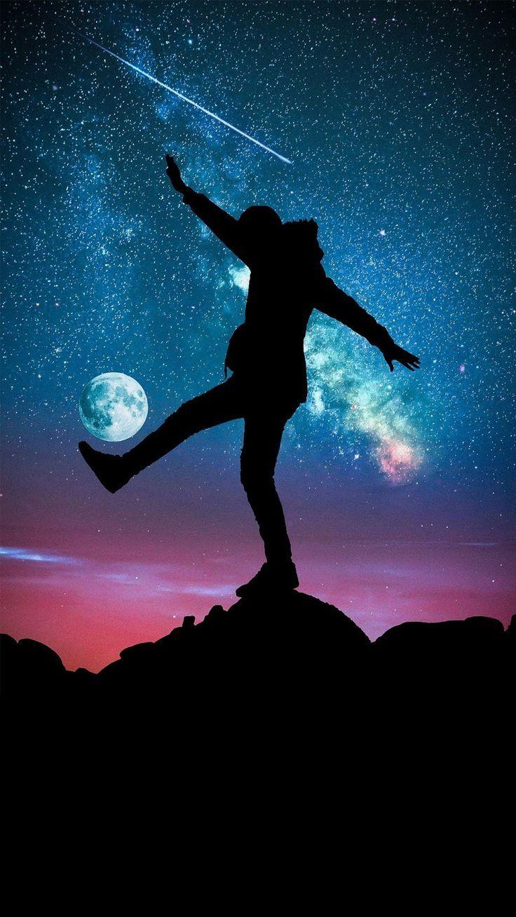 Shoot For The Stars Shoot Stars Galaxy Wallpaper Soyut Manzara Resimler