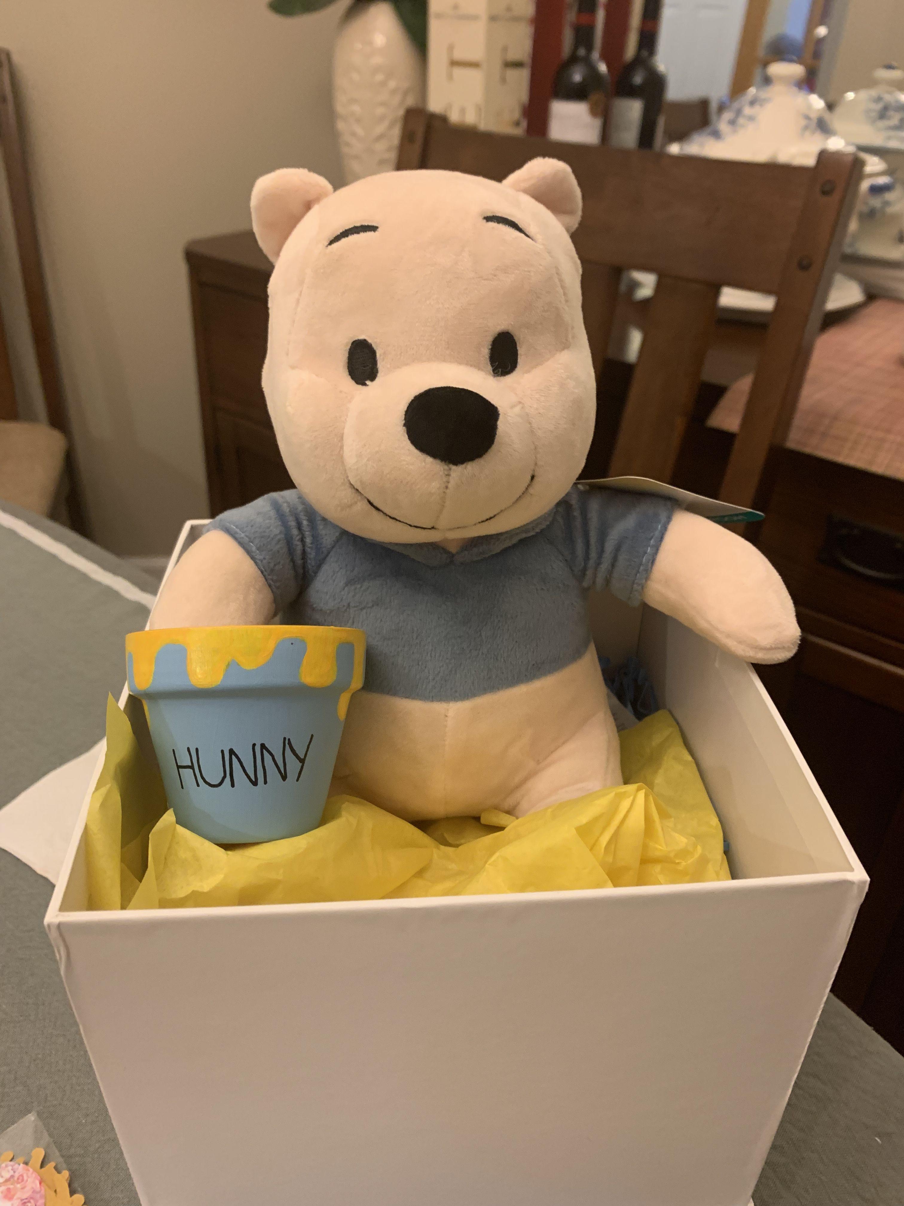 Winnie The Pooh Plush From Lambs Ivy Hunny Pot From Etsy Winnie The Pooh Nursery Winnie The Pooh Plush Lambs Ivy