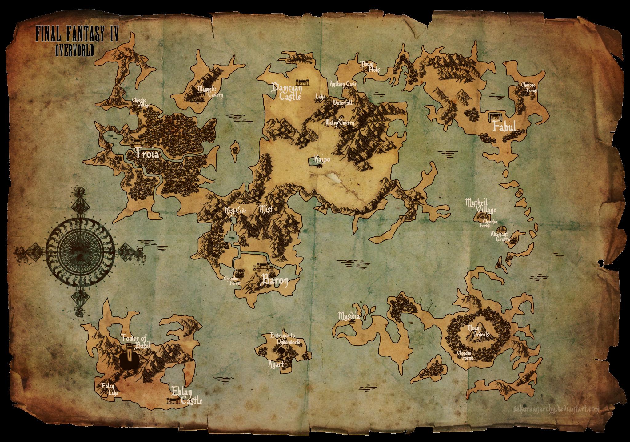 Final+Fantasy+IV+-+Overworld+Map+by+SakuraAnarchy.deviantart ...