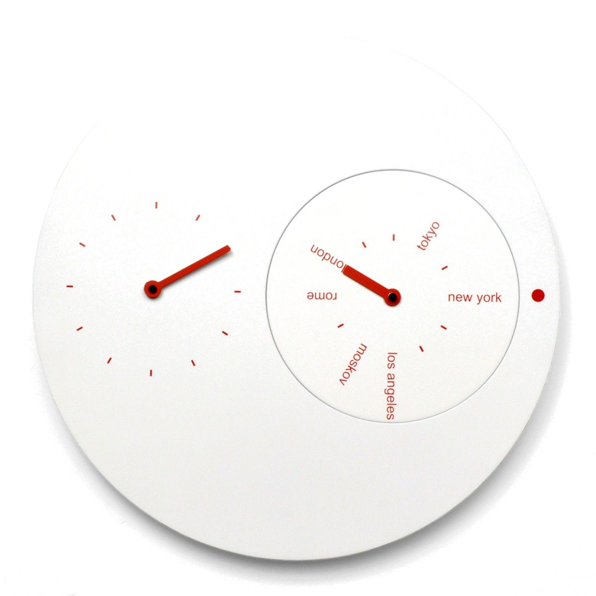 Fantastic Designer High End Modern White And Red Analog Wall Mounted Clock Ideal For Keeping Time In Another Country With Images Red Wall Clock