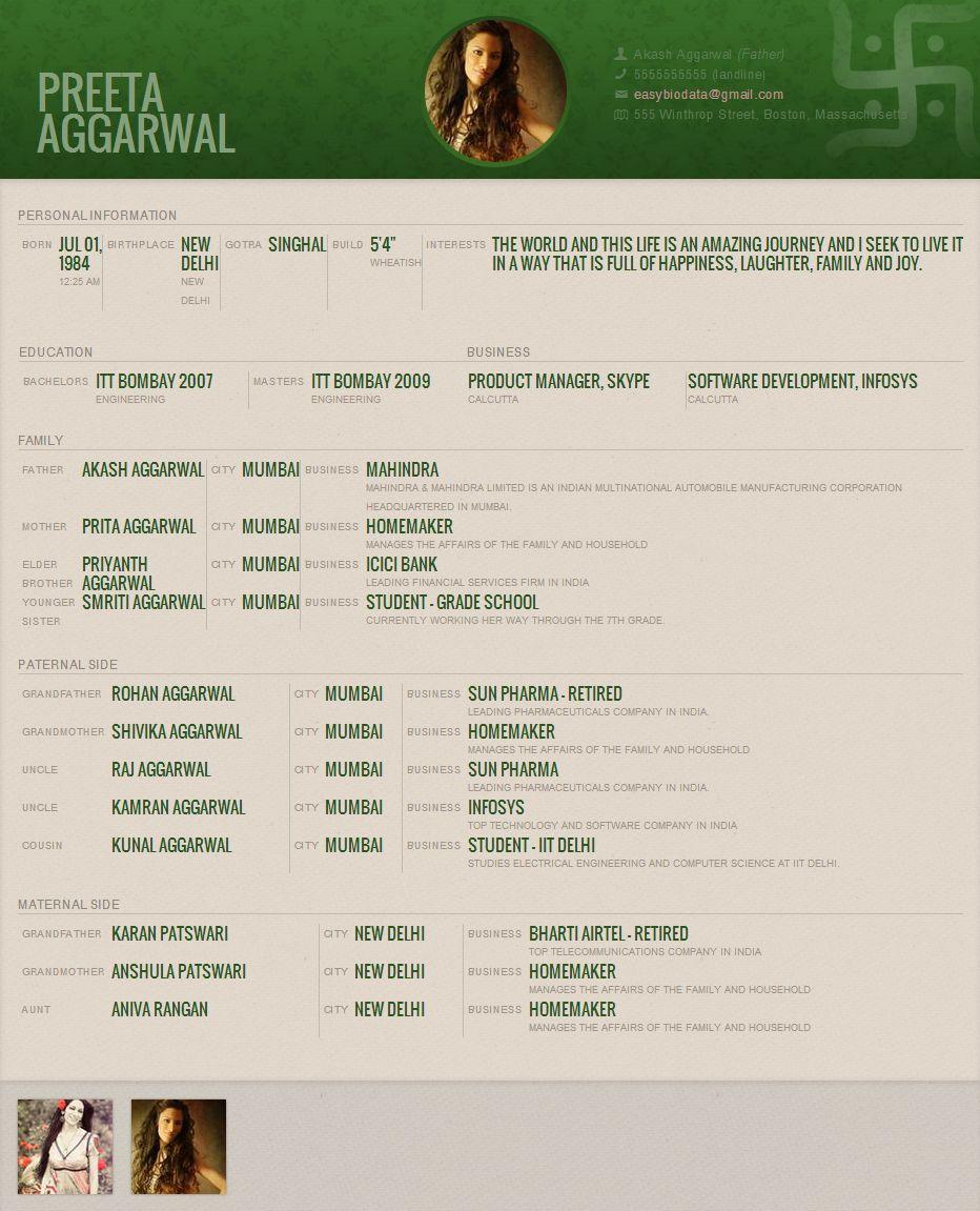 Resume Creator Online Free India