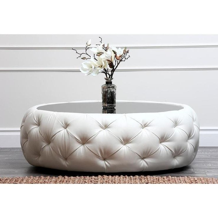 Fancy Round Fabric Ottoman Best 10 Design Tufted Coffee Table French Country