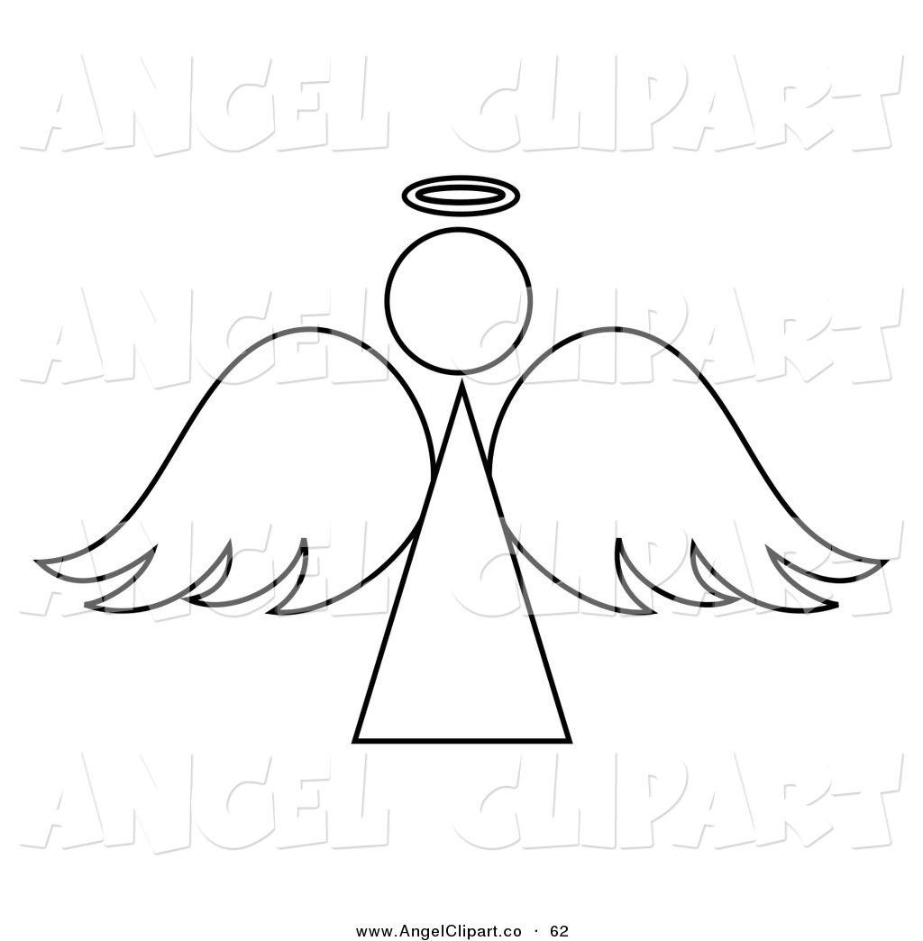 Angel Clip Art Black And White