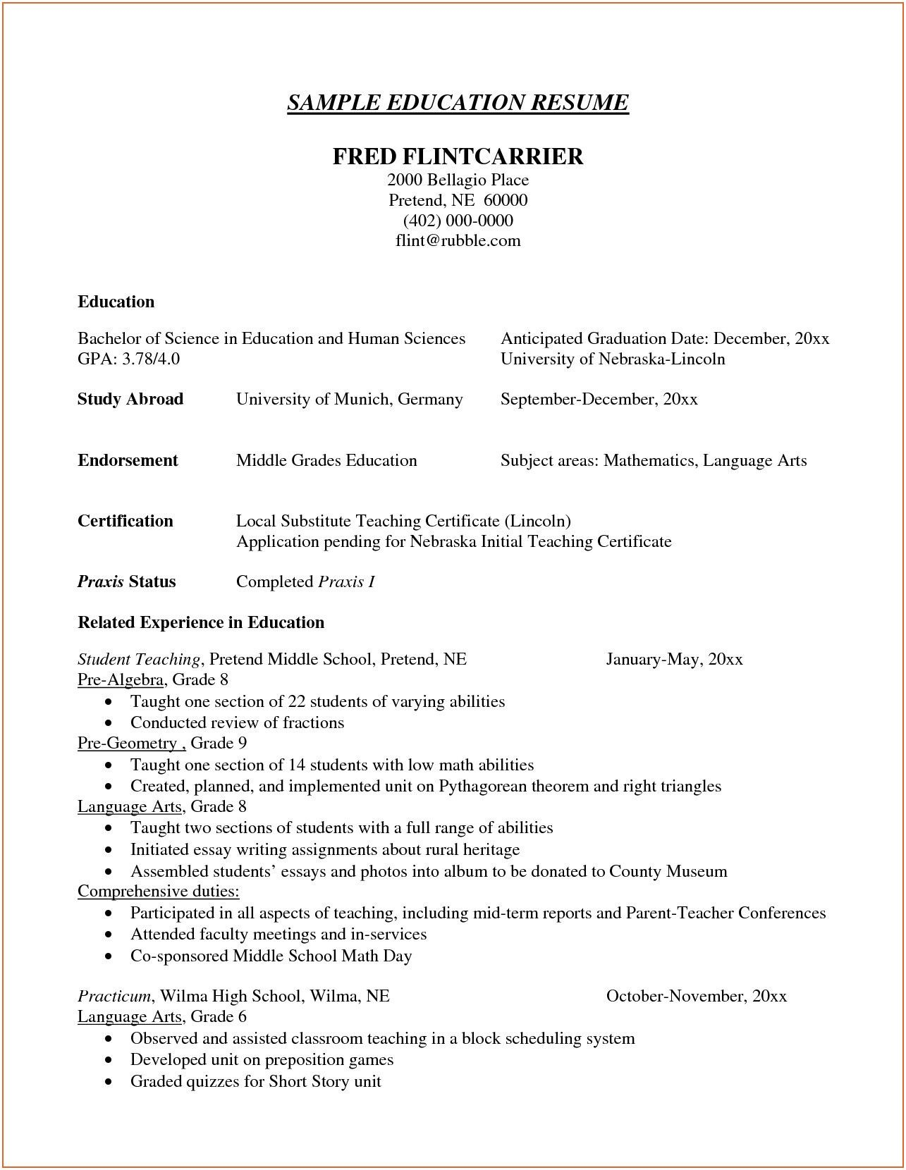 23 Resume Education Section Examples Resume Education Section