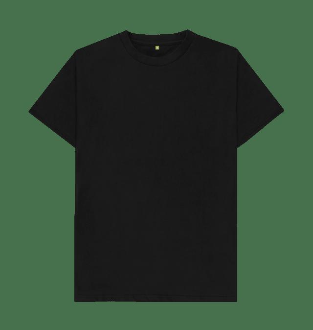 Download Black Plain Organic T-shirt (With images)   Plain black t ...