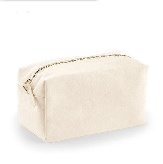 """Photo of Sassy """"All I need Is Coffee and Mascara"""" Natural Canvas Cosmetic Bag Make Up Case"""