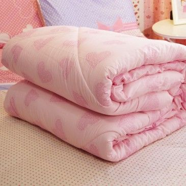 Romantic Pink Comforters For Winter Soft Cotton Duvet Insert Twin/Full/Queen Size
