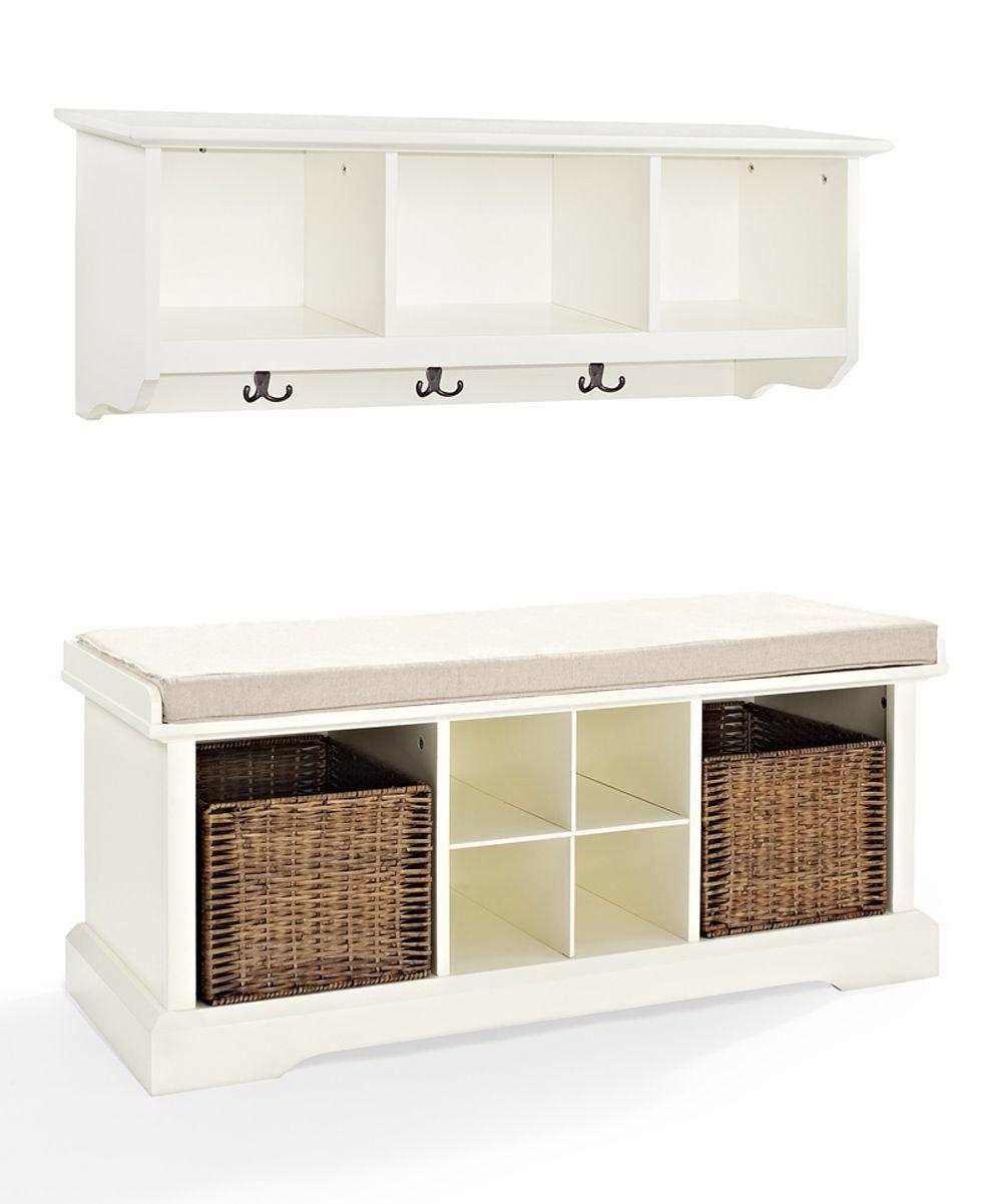 entryway furniture sets. White Brennan Two-Piece Entryway Shelf \u0026 Bench Set Furniture Sets B