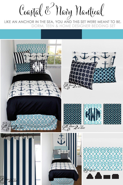 nautical dorm room preppy dorm room bedding navy blue dorm room
