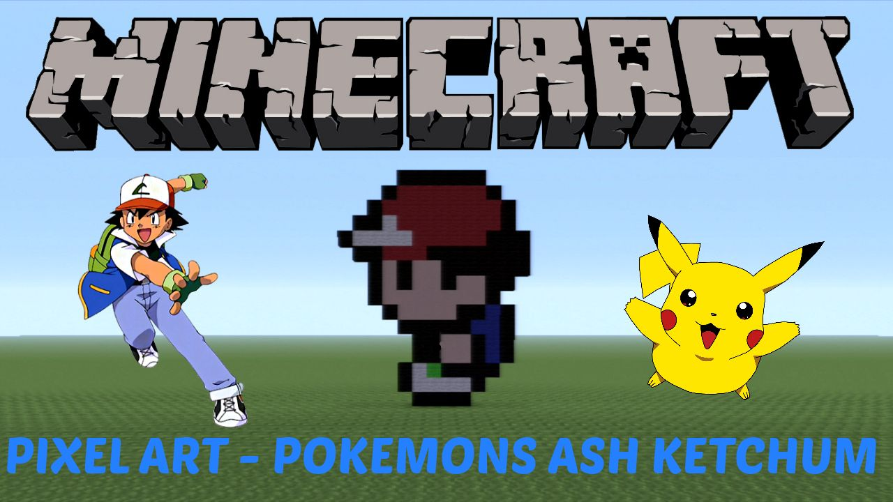 41 Learn How To Make Ash Ketchum From Pokemon In Minecraft Click On The Image To See The Video D Minecraft Pixel Art Pixel Art Pixel Art Tutorial