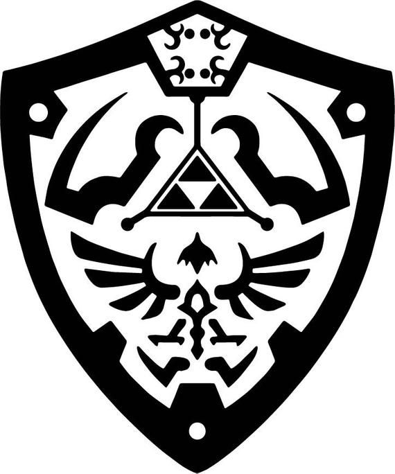 Zelda Twilight Princess Hyrule Shield Decal