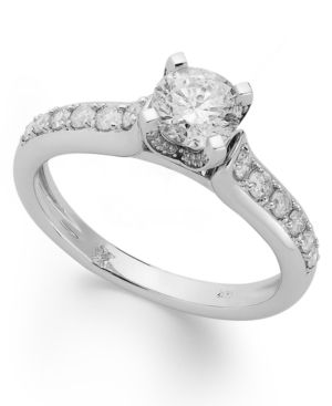 Diamond Engagement Ring in 14k White Gold or 14k Gold (1 ct. t.w.) - Gold