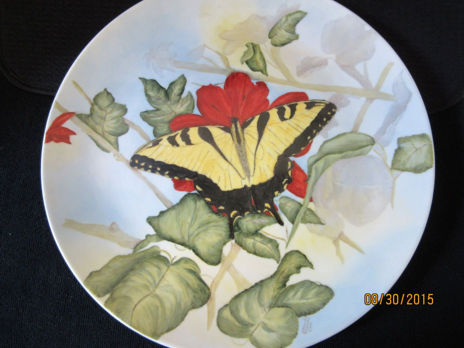 Large Decorative Ceramic Plates Cake Plate Large Tray Ceramic Porcelain Collectible Art Home Decor