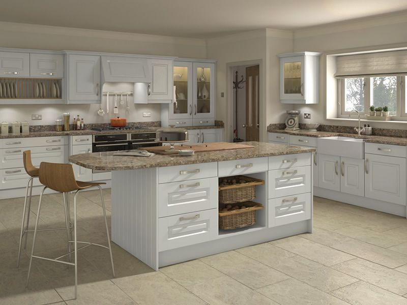 Buy Lytham Light Grey Kitchen Doors At Trade Prices DIY Kitchens - Light grey kitchen doors