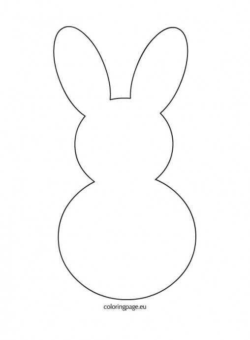 Bunny Rabbit Template Easter Crafts
