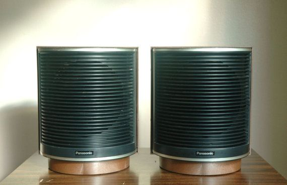 Mod Stereo Speakers Space Age Circular Panasonic Sb 201 Speakers Stereo Speakers Vintage Speakers Stereo