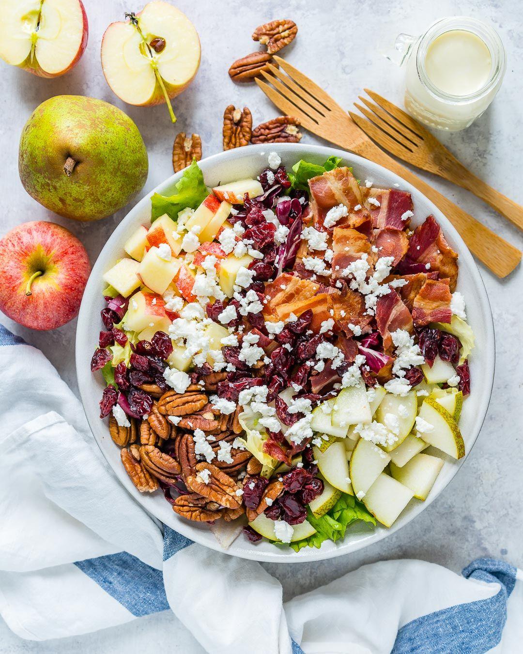 Chopped Autumn Salad + Creamy Homemade Dressing