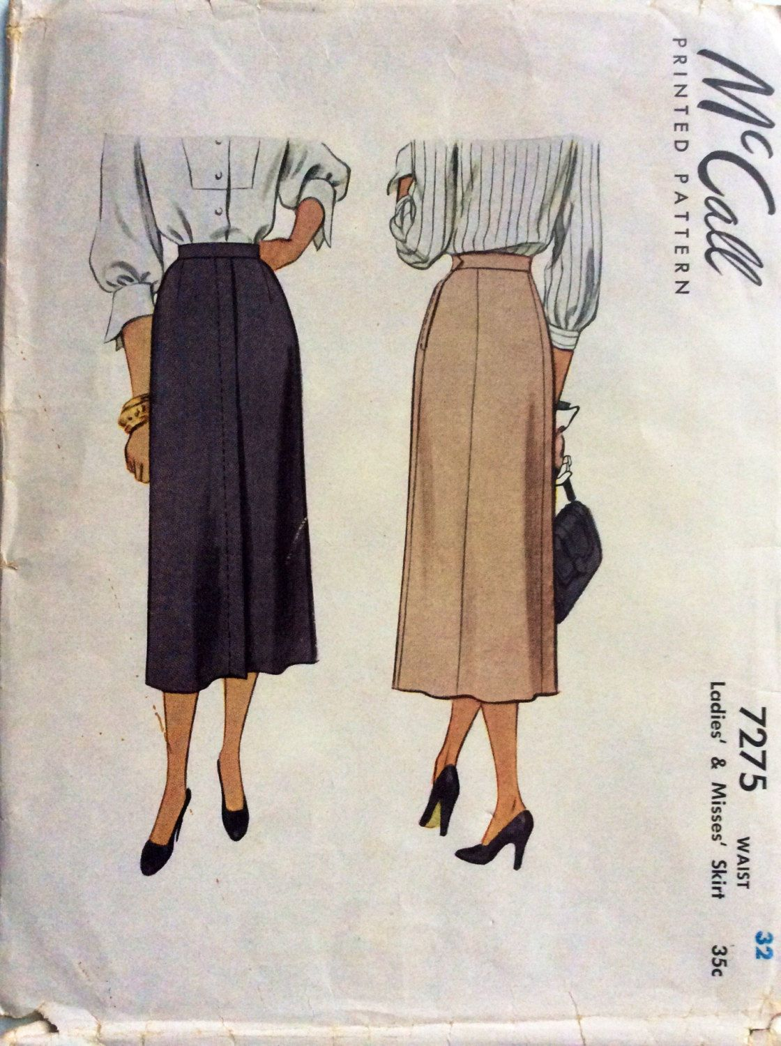 1940s slim fit straight skirt mccall 7275 uncut vintage sewing slim fit straight skirt mccall 7275 uncut vintage sewing pattern waist 32 hip 41 retro mid century classic style preppy elegance by on etsy jeuxipadfo Choice Image