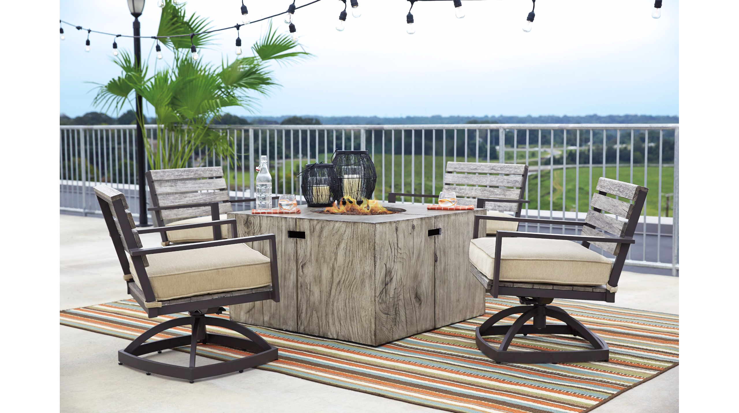 Ashley Peachstone Modern Outdoor Furniture Inspiration Patio And