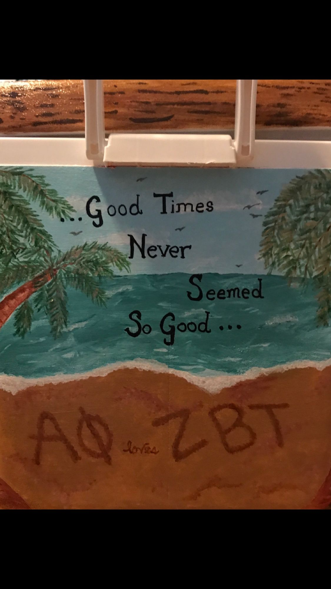 ZBT NOLA side of cooler Beach use a slightly darker color